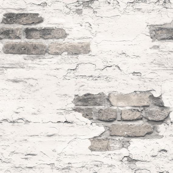 Vliestapete Galerie Grunge G45353 Ziegelwand in Dunkelgrau und Weiß