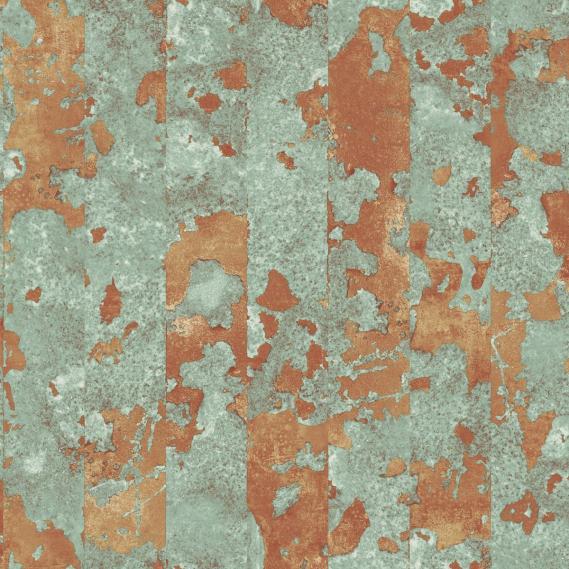 Vliestapete Galerie Grunge G45361 hellgrün und Kupferfragmente