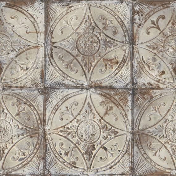 Vliestapete Galerie Grunge G45373 Mandalas in Grautönen und Kupfer