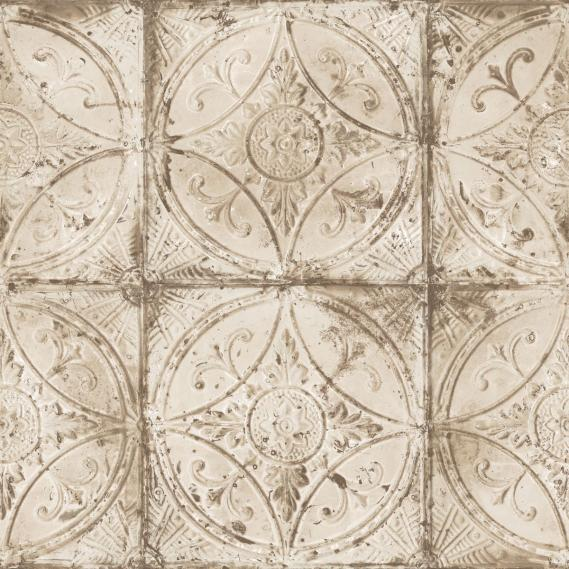Vliestapete Galerie Grunge G45375 Mandalas in Braun und Glimmer
