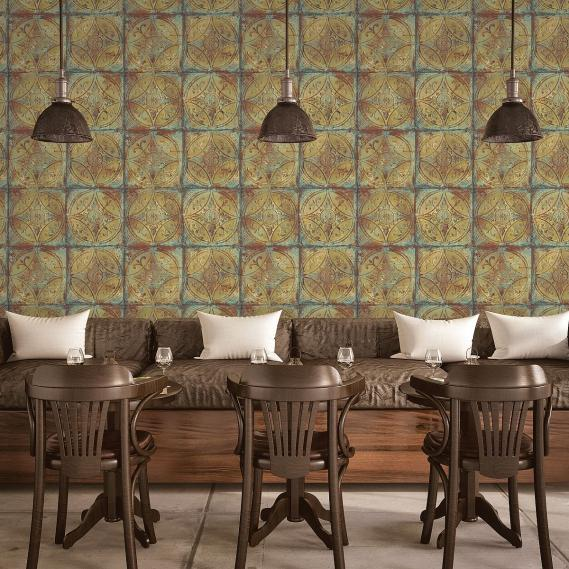 non-woven wallpaper Galerie Grunge old tiles
