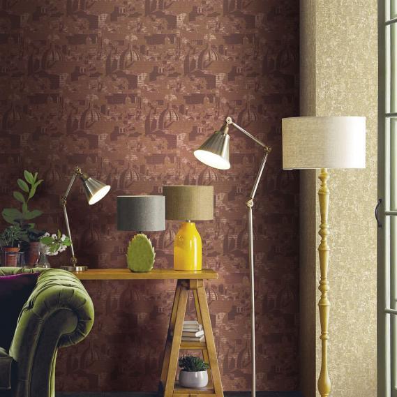 vinyl wallpaper non-woven Sirpi Italian Classic Disegno Brunelleschi