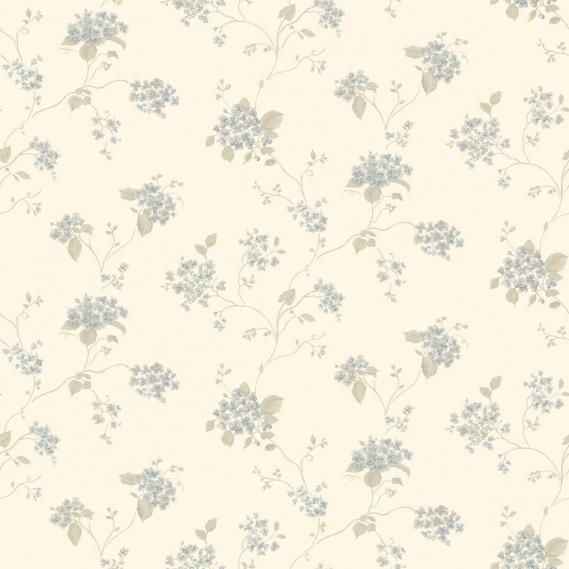 vinyl wallpaper on non-woven Miniatures 2 umbels G67865 light blue / gray brown / cream