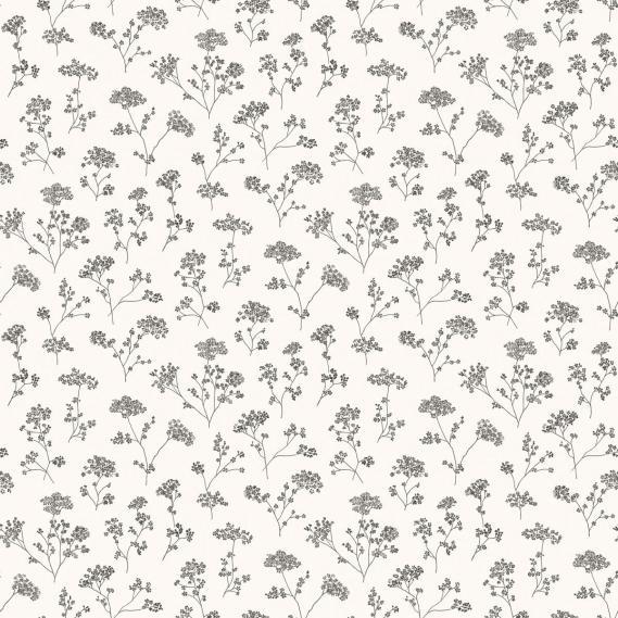 vinyl wallpaper on non-woven Miniatures 2 flowering branches G67870 black / white