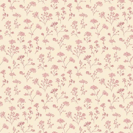 vinyl wallpaper on non-woven Miniatures 2 flowering branches G67872 beige / red