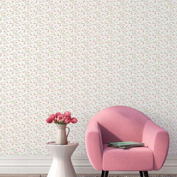 vinyl wallpaper on non-woven Miniatures 2 roses tendrils