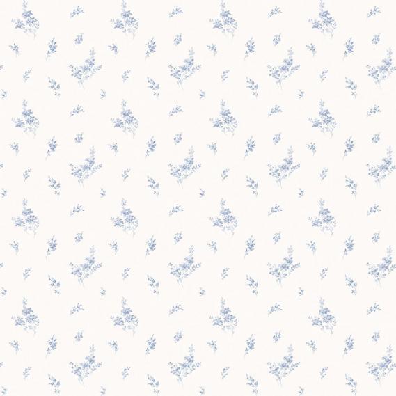 vinyl wallpaper on non-woven Miniatures 2 twigs G67915 light blue / white