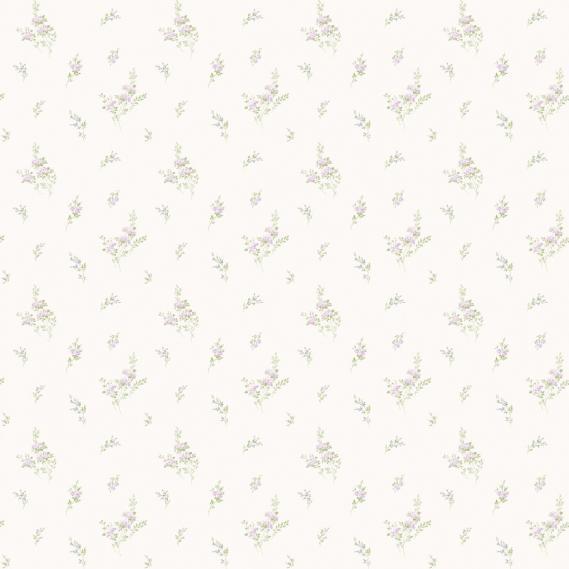 vinyl wallpaper on non-woven Miniatures 2 twigs G67919 purple / light green / white