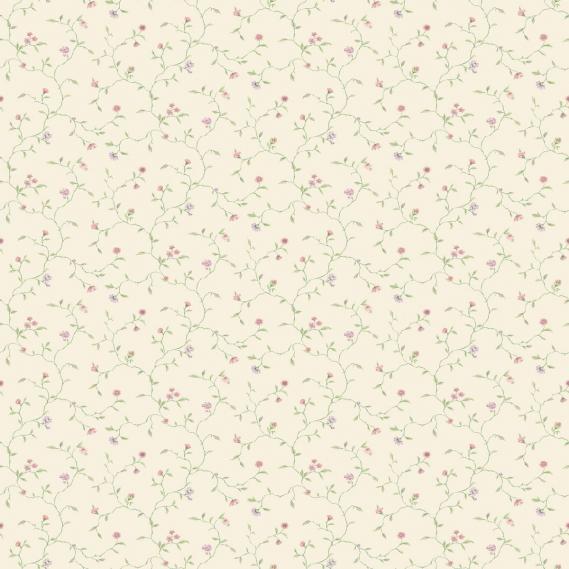 vinyl wallpaper on non-woven Miniatures 2 flower tendrils G67922 colorful