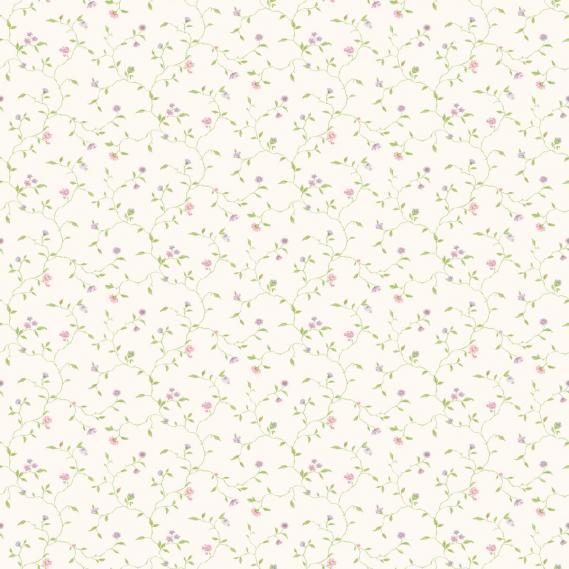 vinyl wallpaper on non-woven Miniatures 2 flower tendrils G67923 colorful