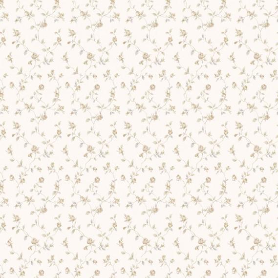 vinyl wallpaper on non-woven Miniatures 2 little roses G67933 light brown / white