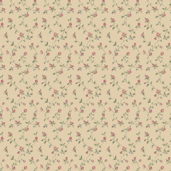 vinyl wallpaper on non-woven Miniatures 2 little roses G67934 colorful / beige