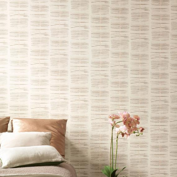 non-woven wallpaper Taro Oxygen Khroma OXY104 brown / salmon / offwhite