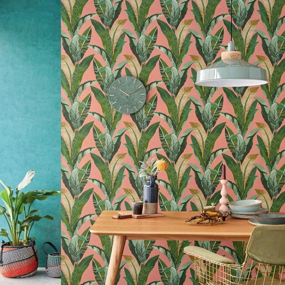 non-woven wallpaper Eijffinger Vivid leafes