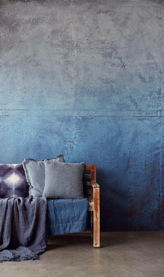 Wandbild Eijffinger LINO Leinwand Denim 379105