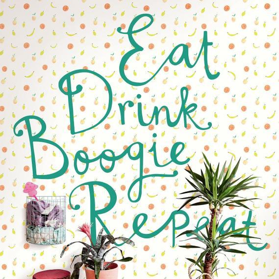 Wandbild Eijffinger Rice Eat Drink Boogie repeat 383617