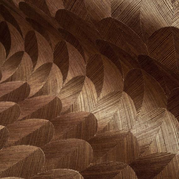 hochwertige tapeten und stoffe vlies sisal tapete heliodor scale gold braun 49100 decowunder. Black Bedroom Furniture Sets. Home Design Ideas