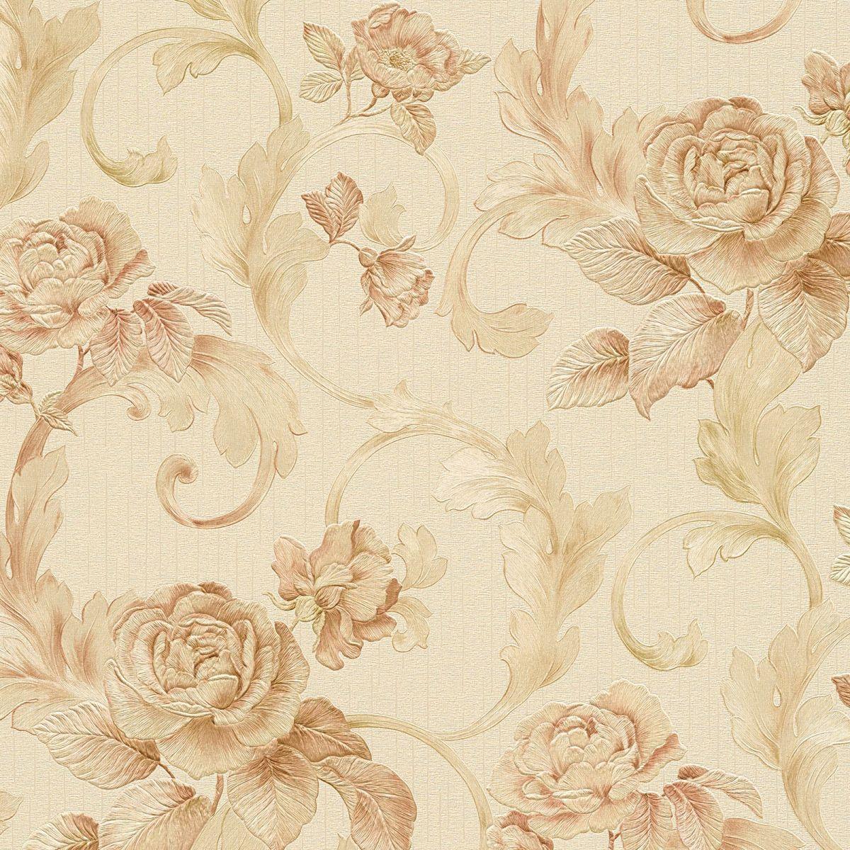 barock tapete nobile 95983 3 blumentapete decowunder. Black Bedroom Furniture Sets. Home Design Ideas